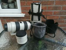 Canon EF 70-200 mm f/2.8 L IS plus Canon 2x Converter ii, both excellent