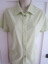 Ladies size 14 New Look lime green summer blouse top short sleeves