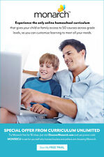 Try 30 day FREE TRIAL of Monarch Homeschool Curriculum for Alpha Omega AOP 3-12