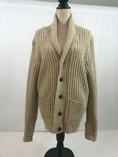 EUC Vtg Lord Jeff The Marlbourough Coll. Mens Shawl coll Cardigan Lg Wool blend