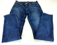 Lucky Brand womens jeans sz 6/28 actual 30 x 32 blue dark wash Sofia Skinny