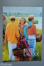 R&L Ex-Mag Advert: Estee Lauder Boating Party Spring Colours 1980's Fashion