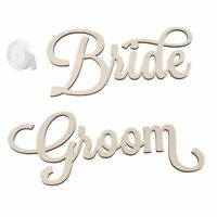 5X(2pcs Bride Groom Wedding Chair Sign Bride and Groom Wedding Chairs Back