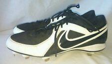 Mens Nike MVP Strike Baseball Cleats Size: 13 Color: Black White