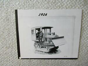 "1926 CAT Caterpillar tractor PHOTO 5x4"""