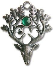 Fantasy Medio Evo gioiello amuleto Collana con pendente FORESTA der hirschkönig