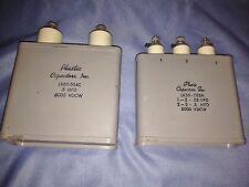 Pair of Vintage Plastic Capacitors,Inc - LK60-504C and LK50-555 - VGC