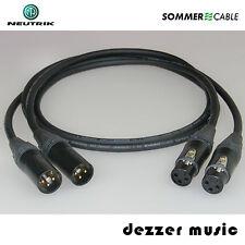 2x 2m sym XLR Kabel GALILEO NEUTRIK Gold/Sommer Cable 3pol 2,00 / SPITZENKLASSE