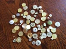 Vintage  Assortment Of White, Ivory, Misc Buttons