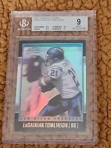 2001 Bowman Chrome Refractor Chargers Rookie LaDainian Tomlinson 539/1999 BGS 9