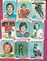 1975-76 OPC NHL EX/GOOD CARD LOT INCL GARE RC COURNOYER PLASSE (INV# D0542)