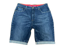 Original Fiori Classic Regular Fit Blue Stonewashed Denim Shorts W36 L10 ES 7107