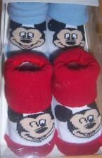 Mickey Mouse or Minnie Mouse 2PK Bootie Socks, Baby Shower, 0-12 Months