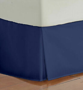 1 PC Bed Skirt US & RV Size Select Drop Length Navy Blue 1000 TC Egyptian Cotton