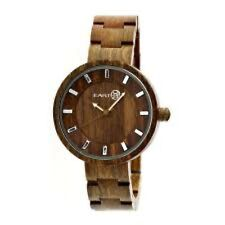 NEW Earth EW2504 Womens Olive Brown Natural Wood ROOT Round Eco Friendly Watch