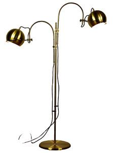 GEPO Steh Lampe Doppelbogen Boden Leuchte Messing Midi Vintage Floor Lamp 70er