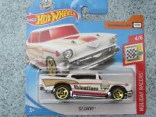 Hot Wheels 2018 # 100/365 1957 CHEVY CHEVROLET Blanco Holiday Corredores