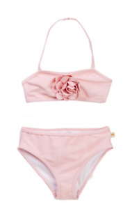 Kate Spade Little Toddler Girls Rosette Pink 2 Piece Swimsuit NEW Tags $68 2 4 5