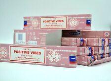 Satya Nag Champa Positive Vibes scent dhoop Incense Sticks Yoga Agarbatti 12Pk