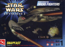 AMT STAR WARS PLASTIC MODEL KIT TRADE FEDERATION DROID FIGHTERS SNAPFAST ER30118