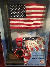 """Musical Waving American Flag The Wave Stars & Stripes 17"""" Star Spangled Banner"""
