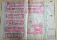 1921 UWS MUSEUM OF NATURAL HISTORY CENTRAL PARK MANHATTAN NY PLAT ATLAS MAP