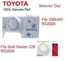 Genuine TOYOTA MACHINE plastique sélecteur Cadran Lettre Oekaki RS Couette Mater 226