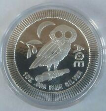 1 oz .999 silver coin Athenian Owl Ancient Greek Tetradrachm AOE Niue 2 dollar