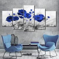 Mohnblume Natur Wandbild Wohnzimmer Schlafzimmer Bild Bilder Leinwand Dekoration