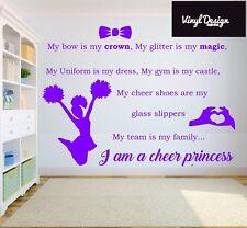 Cheerleader princess quote vinyl wall art