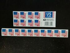 NEW USPS FOREVER Postage Stamps US FLAGS 'Z' STRIPS/BOOKS -20 ct.-FREE SHIP!