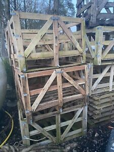 Wooden Shipping crates Ideal For Storage Or Drying Logs - Strong/Used - £10 Each