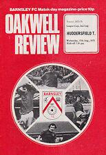Football Programme>BARNSLEY v HUDDERSFIELD TOWN Aug 1975 FLC