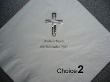 50 Personalised Christening Napkins