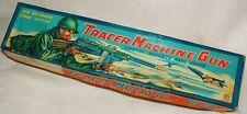 "VINTAGE TRACER MACHINE GUN 1950's SHTS RBR BULLTS 20""TIN LITHO by SANKEI JAPAN"