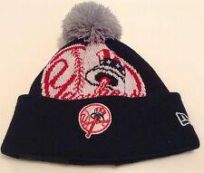 New York Yankees Cap Hat 2013 Youth New Era Jr Woven Biggie Beanie Toque Kids