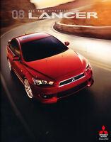 2008 Mitsubishi Lancer 28-page Original Car Dealer Sales Brochure Catalog