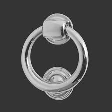 FRELAN QUALITY CHROME RING DOOR KNOCKER LARGE 100mm LEWIS