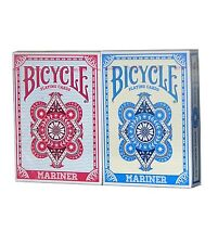 2 Decks Bicycle Mariner Standard Poker Playing Cards Red and Blue New Decks