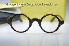 Retro Vintage Johnny Depp designer spectacle mens frame tortoise round eyeglass
