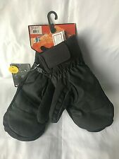 KOMBI with Microban Protection Thick Black Ski Mittens Mens Size L