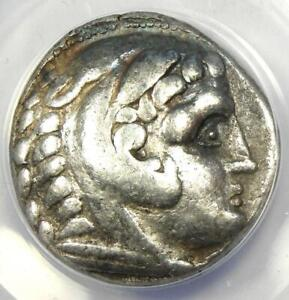 Celtic Alexander the Great III AR Tetradrachm Coin 200 BC - Certified ANACS VF35