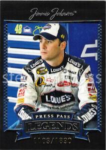 2005 Press Pass Legends #31 Jimmie Johnson Blue #31B 1103/1890
