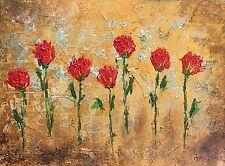 Original art Rose Row on Canvas