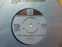 """Petula Clark – I Don't Know How To Love Him 1971 7"""" Pye 7N.45112"""
