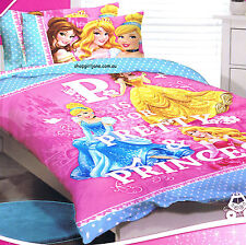 Disney - P is for Pretty & Princess - Double/US Full Bed Quilt Doona Cover Set