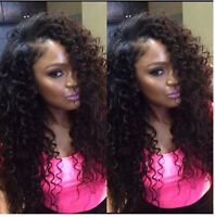 """10"""" 100g 1 pc Brazilian Human Hair Extensions Deep Curly Weft Remy Hair Weave"""