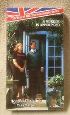 Agatha Christie Miss Marple VHS Video Tape A MURDER IS ANNOUNCED BBC Series NEW