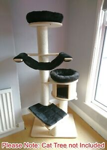 Handmade BLACK Removable Pet Cat Bed Replacement Set for Natural Paradise XL