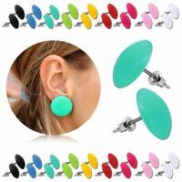 1 Paar Ohrstecker Rund Ohr Stecker Ohrringe Button Pin Acryl Damenschmuck Kinder